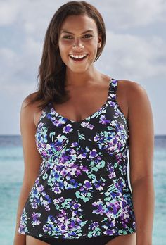 ed48610641 Beach Belle Hyacinth V-Neck Top Swimsuits For All