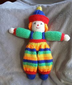 Knitted Dolls, Crochet Toys, Knit Crochet, Knitting Projects, Knitting Patterns, Crochet Patterns, Caron Simply Soft, Knit In The Round, Christmas Toys