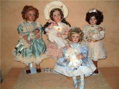Allejandra, Isabelle, Emma, and Sophie, all Pamela Phillips dolls