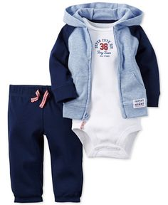 Carter's Baby Boys & # Hoodie, Bodysuit & Hosen S … - Baby Kleidung Baby Outfits, Outfits Niños, Newborn Outfits, Toddler Outfits, Kids Outfits, Carters Baby Clothes, Carters Baby Boys, Baby Kids Clothes, Baby Boy Newborn