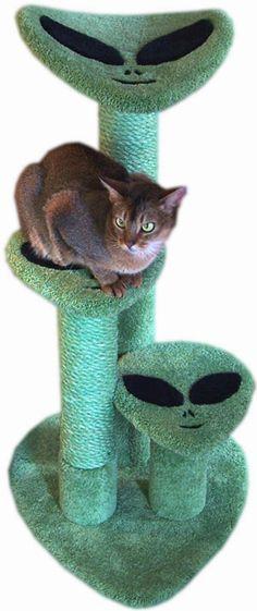 alien cat scratching post