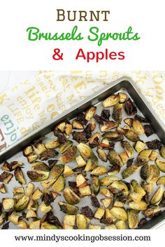 All you need are Brussels sprouts, apples, olive oil, salt and pepper to make this quick, easy and delicious recipe for Burnt Brussels Sprouts and Apples. Healthy Dinner Sides, Healthy Side Dishes, Side Dish Recipes, Vegetarian Recipes, Healthy Recipes, Vegan Vegetarian, Delicious Recipes, Free Recipes, My Favorite Food