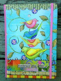 Embrace the Day Journal by LisaKausArtStudios on Etsy