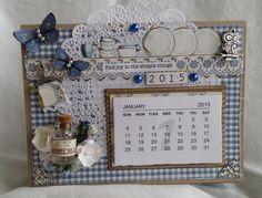 Bordkalender Mixed Media Art, Mix Media, 9 And 10, Calendar Ideas, Scrapbook, Art Journaling, Simple, Frame, Cards