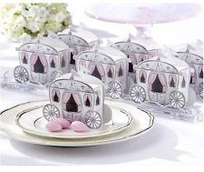 50 Cinderella Wedding Bomboniere Favour Gift Box White