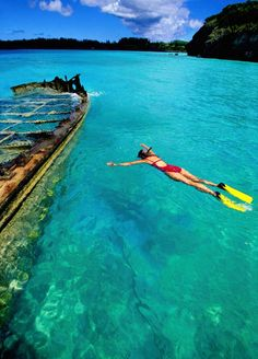 8 Things to Do in Bermuda (Besides the Beach) Bermuda, Nonsuch Island, woman snorkeling near shipwreck - Steve Bly/Getty Images Bermuda Vacations, Bermuda Travel, Bermuda Beaches, Cruise Travel, Cruise Vacation, Vacation Destinations, Vacation Spots, Vacation Ideas, Disney Cruise