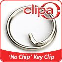 No Chip Clip for Keys: Nails never touch the ring--no more broken nails! It is my nails it is my lack of fine motor skills that gives me a problem. I ordered the Clipa handbag hanger so I hand shipping to pay anyway, but the item is only $1.98 for 3.  I'll report on which I like better this or the Free Key system