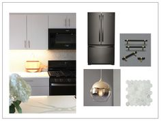 Black stainless appliances and the perfect how-to guide for mixing metals in kitchen design.