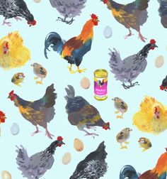 Mary Woodin: chickens