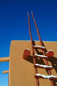 Santa Fe's cobalt sky. New Mexico