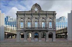 Parlement Européen (ancienne façade de la gare du Luxembourg)