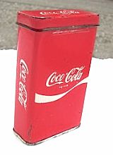 """Vintage Coca-Cola Band-Aid Box: When I was a kid (about 60 yrs ago) - we would play with the Band-Aid boxes. We'd use them as special """"hide-a-way"""" places for little treasures."""