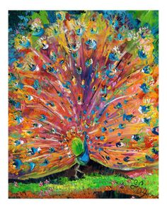 Peacock Splendor Birds of Color Art Print by Ginette Callaway. All prints are professionally printed, packaged, and shipped within 3 - 4 business days. Choose from multiple sizes and hundreds of frame and mat options. Peacock Painting, Peacock Art, Peacock Decor, Bird Art, Art And Architecture, Beautiful Birds, Framed Art, Cool Art, Art Projects
