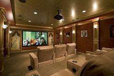 How about this for a media room? #hometheater www.HomeChannelTV.com