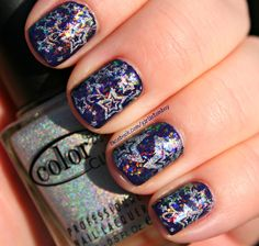 Holo stamping over flakies