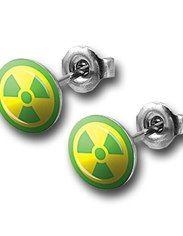 Hulk 316L Surgical Steel Radioactive Symbol Earrings