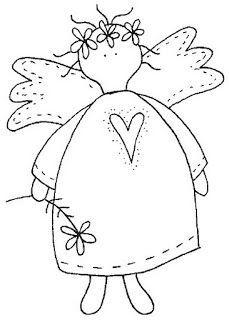 Image result for prim angel pattern black and white