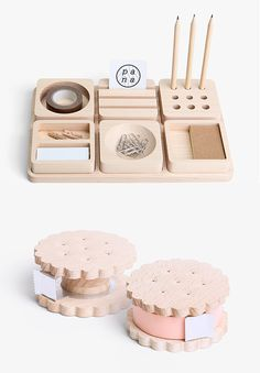 The tape dispenser is really cute by Pana Objects, a little thai company