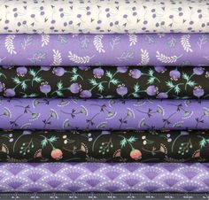Purple, Black, Green, Orange, and White Cotton Quilt Fabric Bundle, Camelot Fabrics' Make a Wish Collection, Fat Quarter, Fabric by the Yard by fabric406 on Etsy