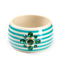 Juicy Couture Large Striped Bangle