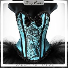CHESHIRE CAT Tenniel Illustrations Steel Boned by DecayCouture, €169.00 The only thing close to a Cheshire cat corset I can find. - Ali liked
