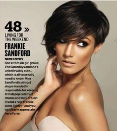 short hair Frankie Sandford
