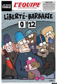 """Anschlag auf """"Charlie Hebdo"""": Titelseiten tragen Trauer - SPIEGEL ONLINE - Nachrichten - Kultur"""