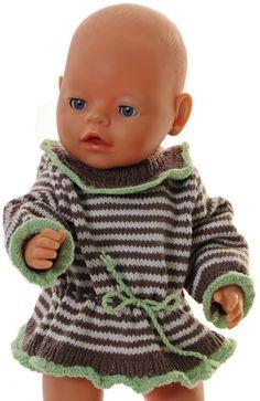 puppensachen stricken mit strickanleitung - Ihre Puppe wird mit diesen neuen Kleidern wirklich hübsch aussehen