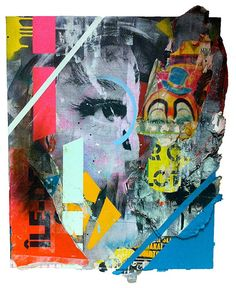French artist Joachim Romain explores the concepts of mass consumption, temporality and the urban environment in his unique collage artworks. Joachim's favorite medium is the advertising poster. He is very mindful of environmental issues when producing his pieces, which are entirely created from recycled materials. More art on the grid Visit his website