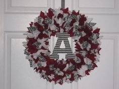 Alabama Crimson Tide Fabric Wreath