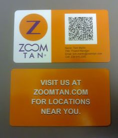 Some business cards I made with a QR code that contains the contact info.