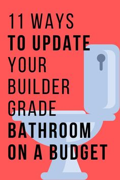 Check out these easy and cheap ways to makeover your builder grade bathroom. These Budget Bathroom, Bathroom Makeovers, Master Bathroom, Bathroom Ideas, Crafts For Seniors, Senior Crafts, Closet Renovation, Vintage Tub, Rustic Vanity