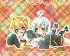 Piko-Tan and Len-Kun!!!!!!!