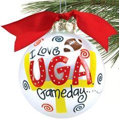 UGA Christmas ball! For our UGA/GT tree!