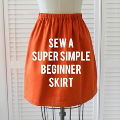 sew a super simple skirt . sewing 101 - Here is my own tip with this Sewing DIY - wash and iron fabric before cutting, so your finished skirt doesnt shrink later.