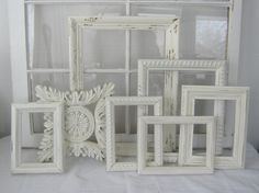 Shabby Chic Frame Collection - Shabby Chic - Antique White - Home Decor - Shabby Decor - Open Frames - Wedding Decor. Shabby Chic Porch, Shabby Chic Desk, Shabby Chic Wallpaper, Shabby Chic Antiques, Shabby Chic Wall Decor, Shabby Chic Pillows, Shabby Chic Farmhouse, Shabby Chic Interiors, Shabby Chic Kitchen