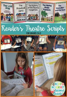 - Instructional Design Production - Reader's Theatre is awesome for building reading fluency and comprehension! These high interest, engaging scripts are perfect for second and third graders. Guided Reading Groups, Reading Strategies, Reading Activities, Reading Skills, Teaching Reading, Reading Comprehension, Teaching Ideas, Reading Aloud, Reading Intervention