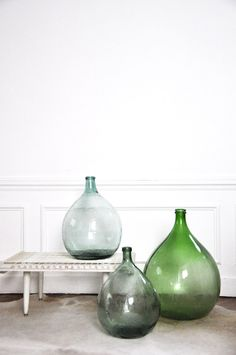 Bel Ordinaire vases -like the shapes and colours, for L-shaped entryway cabinet?