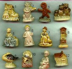 Wade Canadian Red Rose Tea Nursery Figurines There are 24 Red Rose Tea premiums in a Wade Canadian Nursery Set. Above are shown: 1.Old Women Who lived In The Shoe 2.Cat In The Fiddle 3.The Gingerbreadman (Hard One) 4.The Three Bears 5.Little Miss Muffet 6.Wee Willie Winkie 7.Mother Goose 8. Hickory Dickory Dock 9.Goosey Goosey Gander 10.Humpty Dumpty 11.Little Jack Horner 12.The House That Jack Built