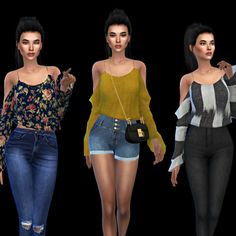 Leo 4 Sims: Kaliah Blouse • Sims 4 Downloads