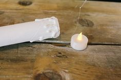 Easily create a roomful of haunted floating candles with common household items.