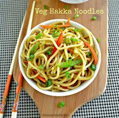Shweta in the Kitchen: Hakka Noodles - Vegetable Hakka Noodles