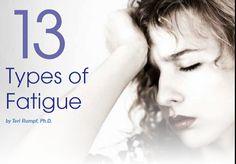 13 Types of Sjogren's Fatigue; but describes fatigue felt by all with autoimmune diseases