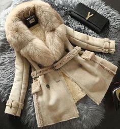 Sheepskin fur lux coat от FURSNOWQUEEN на Etsy