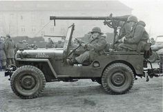 Willys jeep w 75 mm recoiless rifle mt Germany 46