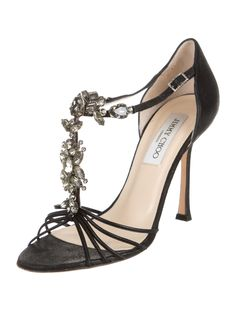Jimmy Choo Jewel-Embellished Sandals - Shoes - JIM42696 | The RealReal