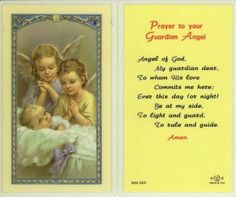 Prayer to your Guardian Angel