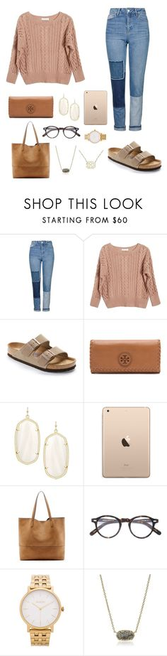 """OMG GUYS LAST NIGHT AT THE FOOTBALL GAME ME IT WAS 50 DEGREES AND MY FRIENDS AND I WERE SO HAPPY SHDISNF"" by jen-joanna ❤ liked on Polyvore featuring Topshop, Ryan Roche, Birkenstock, Tory Burch, Kendra Scott, Sole Society, Moscot and Nixon"