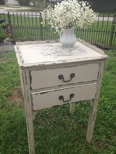 Pretty darned good tute for DIY chalk paint using Plaster of Paris and vaseline...  Who knew?