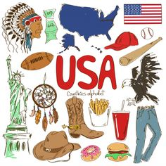 USA Culture Map Printable - KidsPressMagazine.com